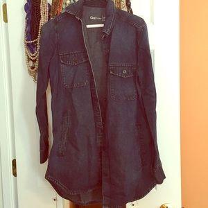 Gap long oversized Shirt/Jacket Sz Medium